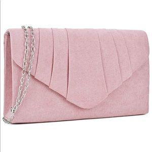 Handbags - 🖤Velvet Party Clutch (baby pink)